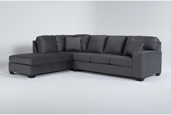 """Romy Graphite 2 Piece 119"""" Sectional With Left Arm Facing Chaise"""