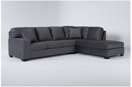 "Romy Graphite 2 Piece 119"" Sectional With Right Arm Facing Chaise"