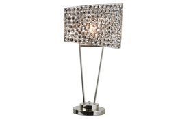 Table Lamp- Smoked Nickel With Crystal Shade