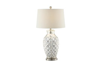 Table Lamp-Textured Mercury Glass