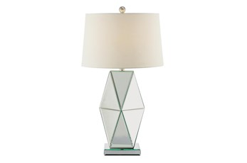 Table Lamp-Geometric Mirrored Glass