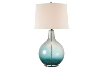 Table Lamp-Round Iridescent Blue