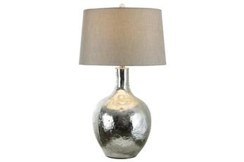 Table Lamp-Chrome Glass