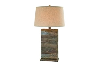 Table Lamp-Blue And Grey