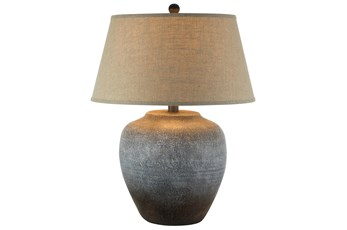 Table Lamp-Grey Rust Frost
