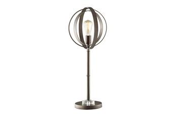 Table Lamp-Antique Bronze Sphere