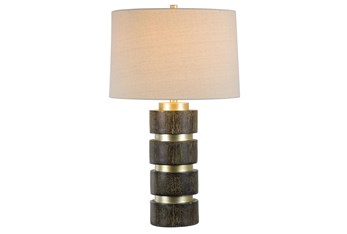 Table Lamp-Wood Cylinder