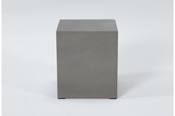 Concrete Square Outdoor Accent Table