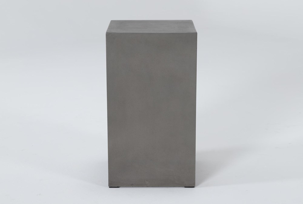 Concrete Tall Square Outdoor Accent Table