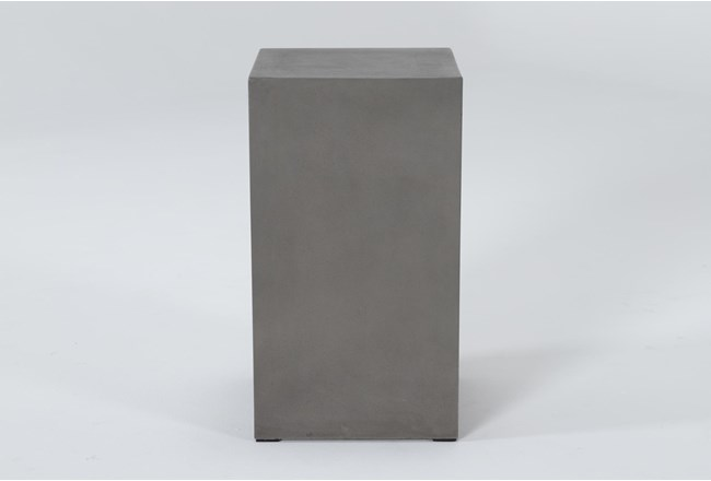 Concrete Tall Square Outdoor Accent Table - 360