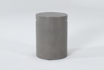 Concrete Tall Round Outdoor Accent Table