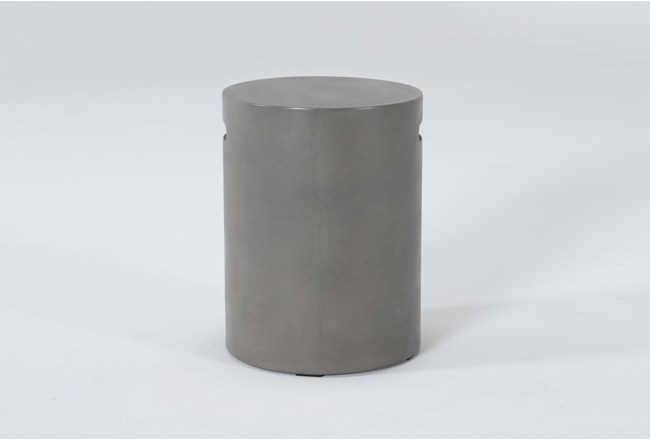 Concrete Tall Round Outdoor Accent Table - 360