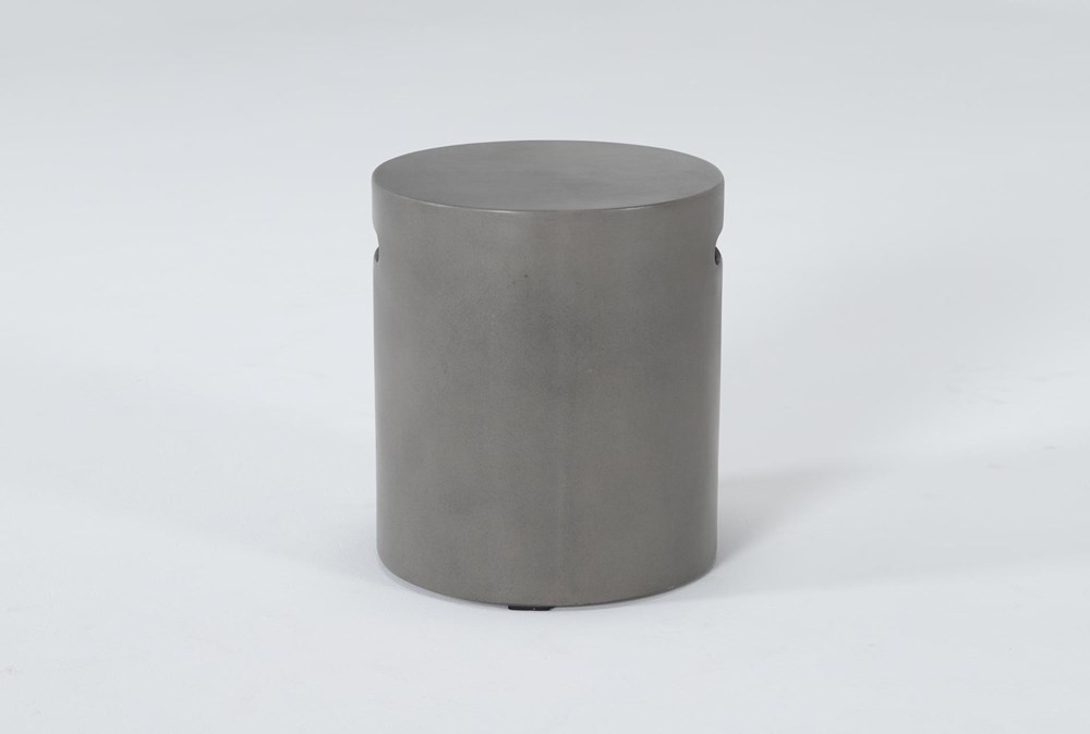 Concrete Round Outdoor Accent Table