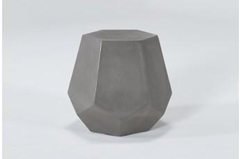 Concrete Prism Outdoor Accent Table