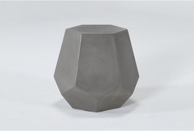 Concrete Prism Outdoor Accent Table - 360