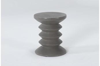 Concrete Acordian Outdoor Accent Table
