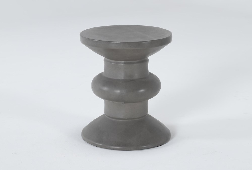 Concrete Turned Outdoor Accent Table