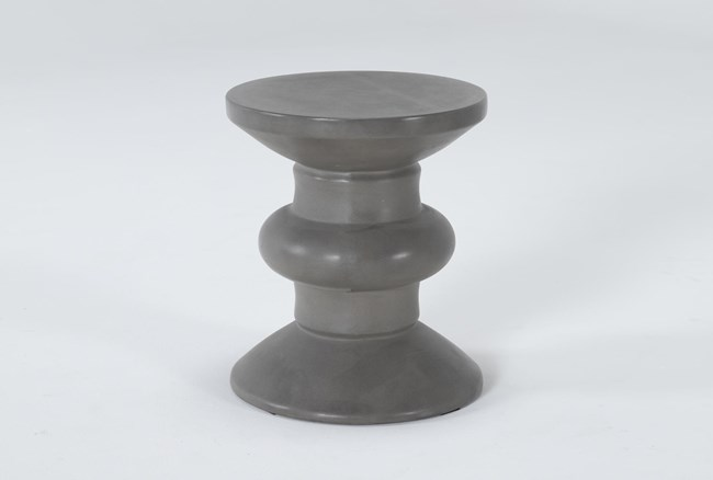 Concrete Turned Outdoor Accent Table - 360