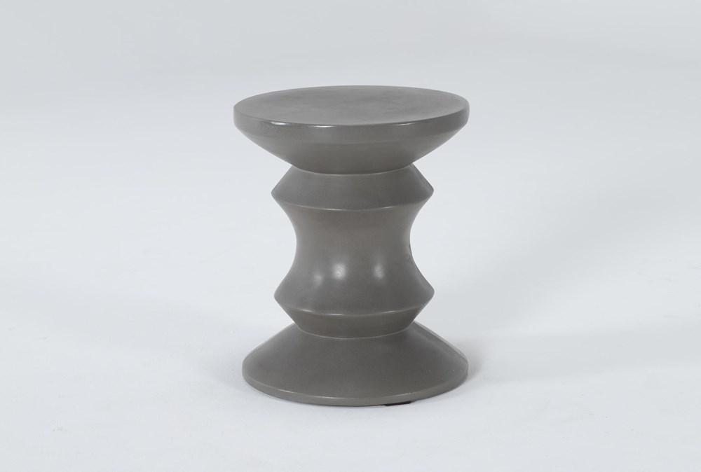 Concrete Column Outdoor Accent Table