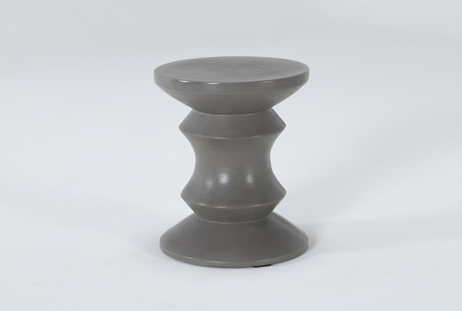 Concrete Column Outdoor Accent Table - 360