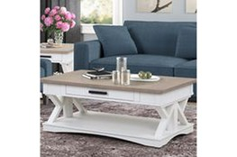 Americana Cotton Modern Cocktail Table