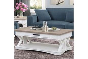 Americana Modern White Coffee Table