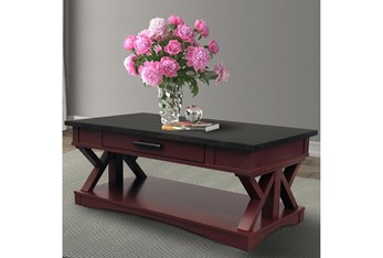 Americana Cranberry Modern Cocktail Table