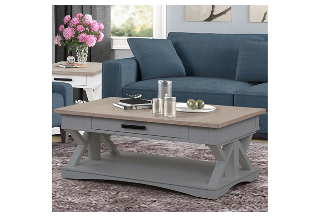 Americana Dove Modern Cocktail Table - 360