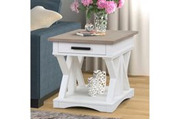 Americana Cotton Modern End Table