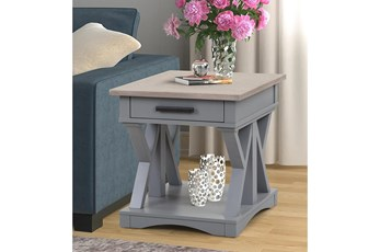 Americana Dove Modern End Table