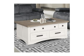 Americana Cotton Modern Cocktail Table With Lift Top
