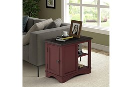 Americana Cranberry Modern Chairside Table