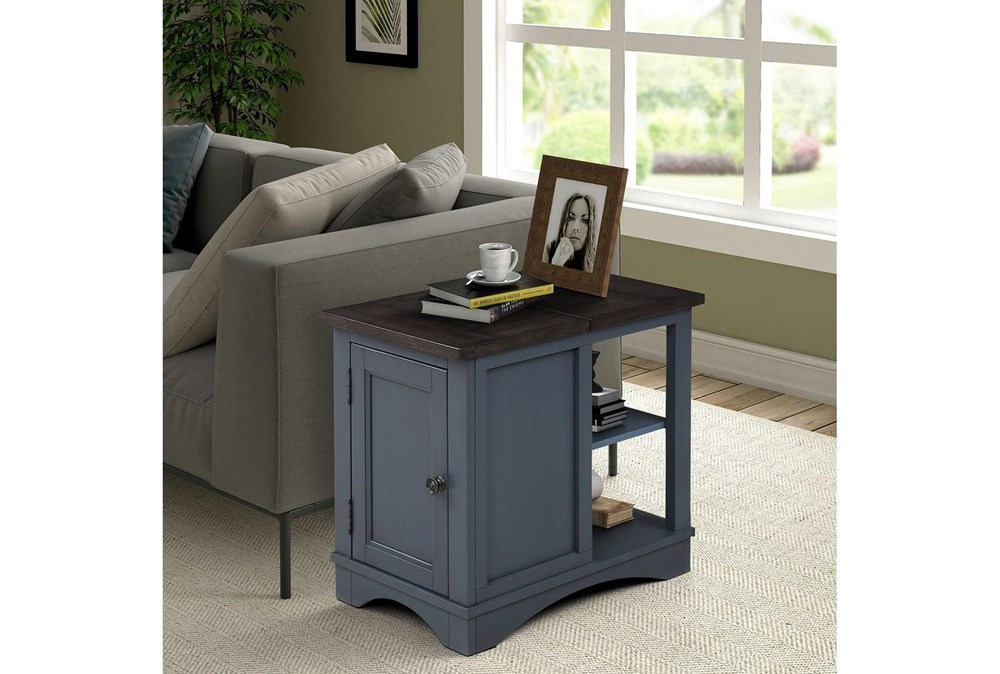 Americana Denim Modern Chairside Table