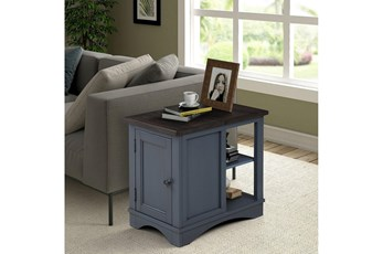 Americana Denim Modern Chairside Table