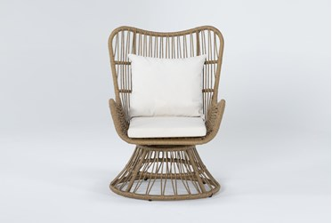Boho Outdoor Swivel Chair