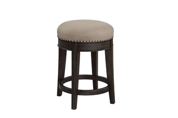"Sundance Smoked Grey 25"" Swivel Stool"