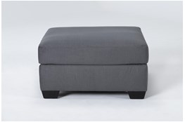Romy Graphite Cocktail Ottoman