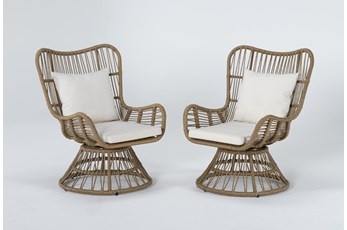 Boho Outdoor 2 Piece Swivel Chair Set