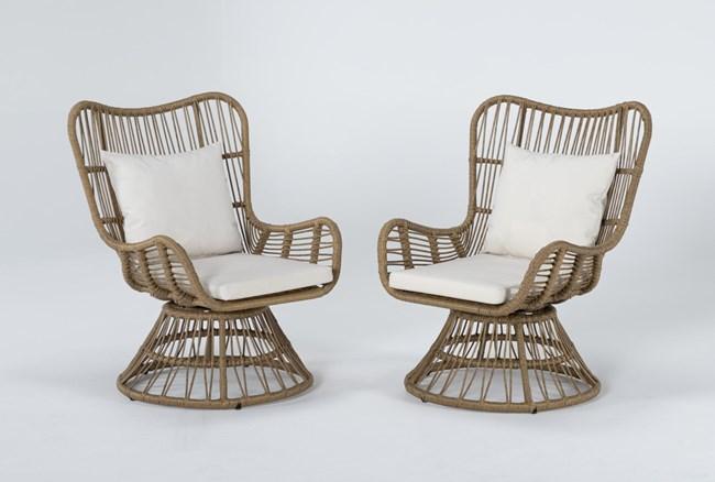 Boho Outdoor 2 Piece Swivel Chair Set - 360