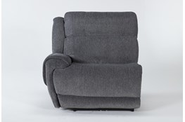Terence Graphite Left Arm Facing Power Recliner With Power Headrest & Usb