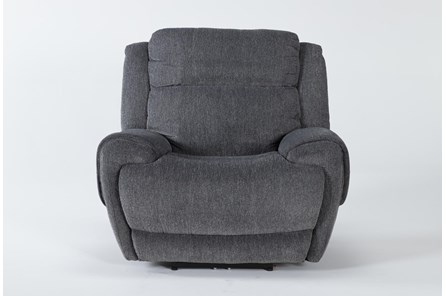 Terence Graphite Power Recliner With Power Headrest & Usb - Main