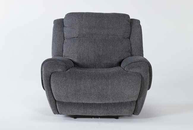 Terence Graphite Power Recliner With Power Headrest & Usb - 360