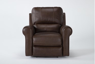 Thorsten Leather Power Recliner With Power Headrest & Usb