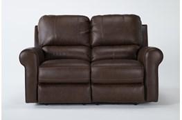 "Thorsten Leather 65"" Power Reclining Loveseat With Power Headrest & Usb"