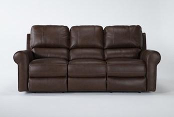 "Thorsten Leather 87"" Power Reclining Sofa With Power Headrest & Usb"