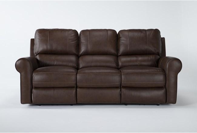 "Thorsten Leather 87"" Power Reclining Sofa With Power Headrest & Usb - 360"