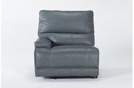Watkins Blue Left Arm Facing Cordless Power Recliner With Power Headrest, Built-In Battery & USB