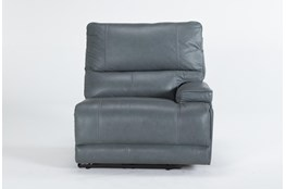 Watkins Blue Right Arm Facing Power Recliner With Power Headrest & Usb