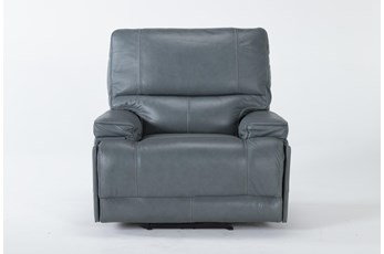 Watkins Blue Power Recliner With Power Headrest & Usb