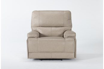 Watkins Linen Power Recliner With Power Headrest, Built-In Battery & USB